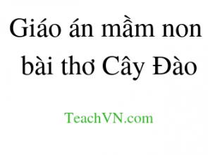 Giáo án mầm non bài thơ Cây Đào