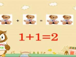 Giáo án toán: Nhận biết số lượng 1- 2 và đếm từ 1 đến 2