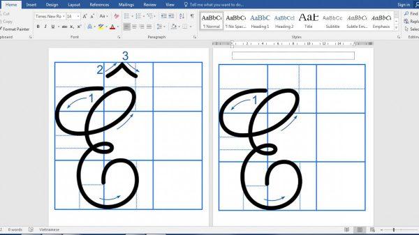 Tải bản mềm bộ mẫu chữ thường và chữ hoa cao 2,5 ô ly dành cho học sinh tiểu học 7