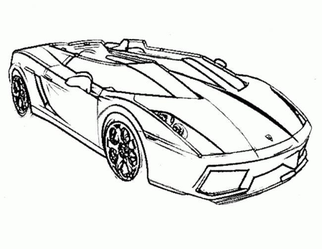 Download tranh tô màu ô tô đen trắng cho bé tập tô màu kích thích sáng tạo 4