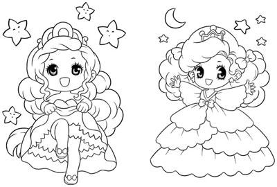 Download tranh tô màu công chúa cho bé 3 tuổi 45
