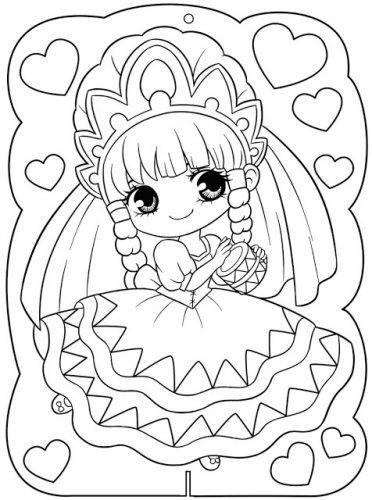 Download tranh tô màu công chúa cho bé 3 tuổi 46