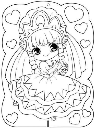 Download tranh tô màu công chúa cho bé 3 tuổi 50