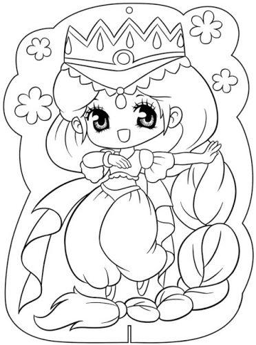 Download tranh tô màu công chúa cho bé 3 tuổi 37