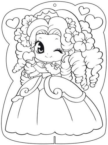 Download tranh tô màu công chúa cho bé 3 tuổi 38