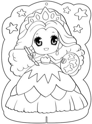 Download tranh tô màu công chúa cho bé 3 tuổi 39
