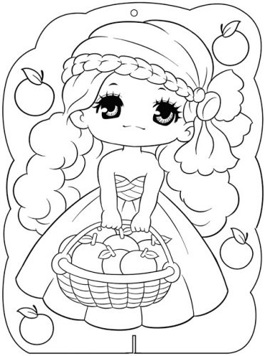 Download tranh tô màu công chúa cho bé 3 tuổi 40