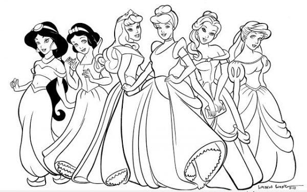 Download tranh tô màu công chúa cho bé 3 tuổi 35