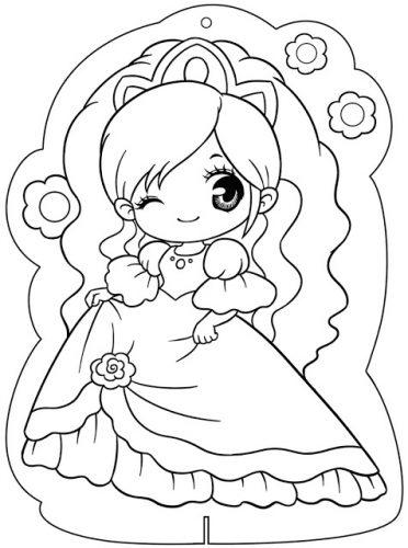 Download tranh tô màu công chúa cho bé 3 tuổi 43