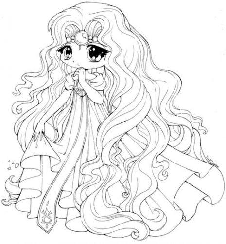 Download tranh tô màu công chúa cho bé 3 tuổi 44