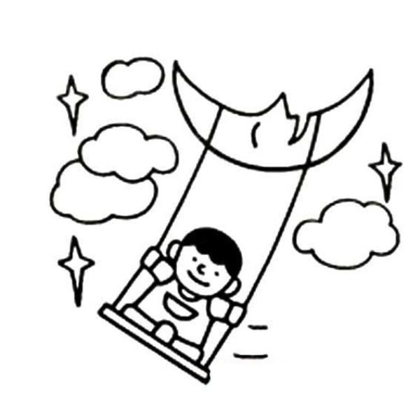 Download tranh tô màu rằm trung thu ngày tết của bé mẫu giáo 4 tuổi 8