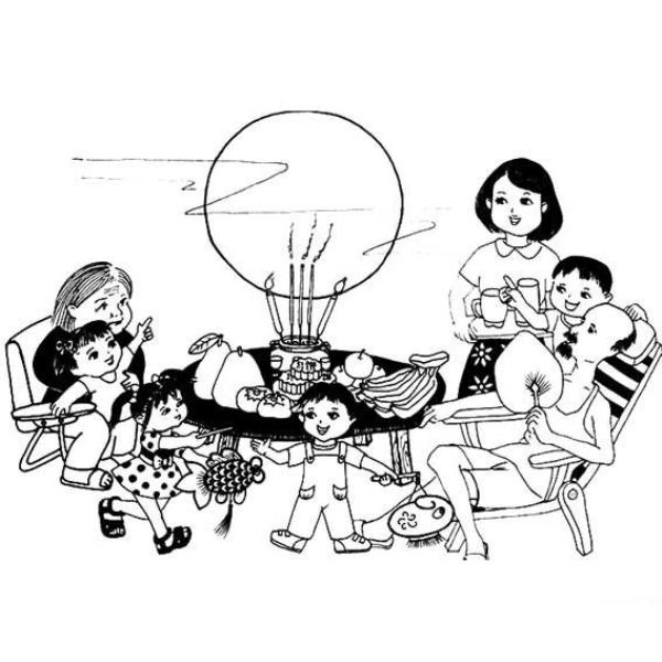 Download tranh tô màu rằm trung thu ngày tết của bé mẫu giáo 4 tuổi 9