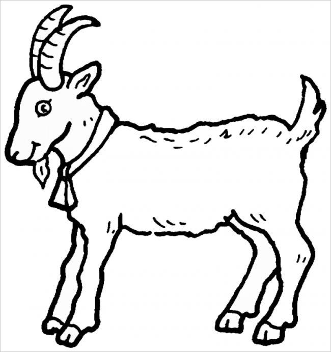 Download tranh tô màu chủ đề động vật con dê cho bé 4 tuổi yêu hội họa 2