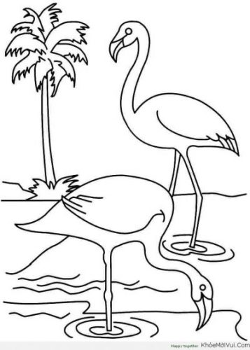 Download tranh tô màu con vật cho bé 2-5 tuổi 57