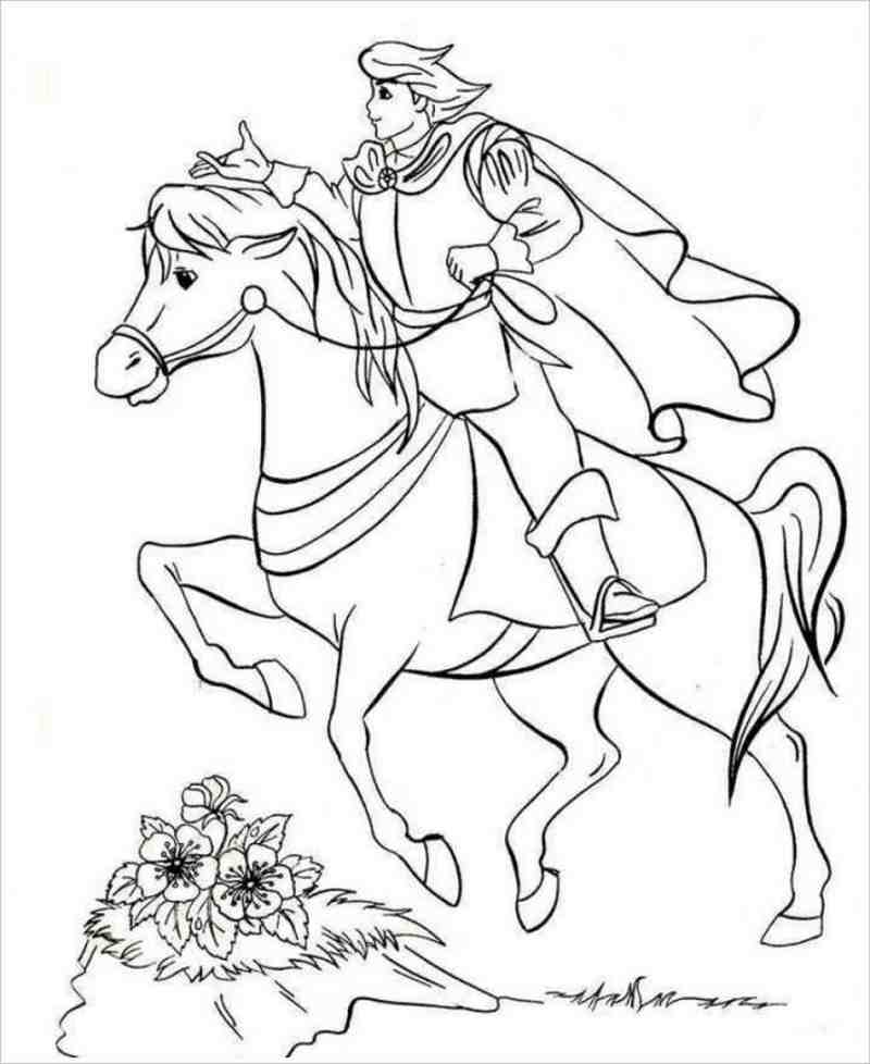 Tải tranh tô màu hoàng tử dành cho bé 4 tuổi 7