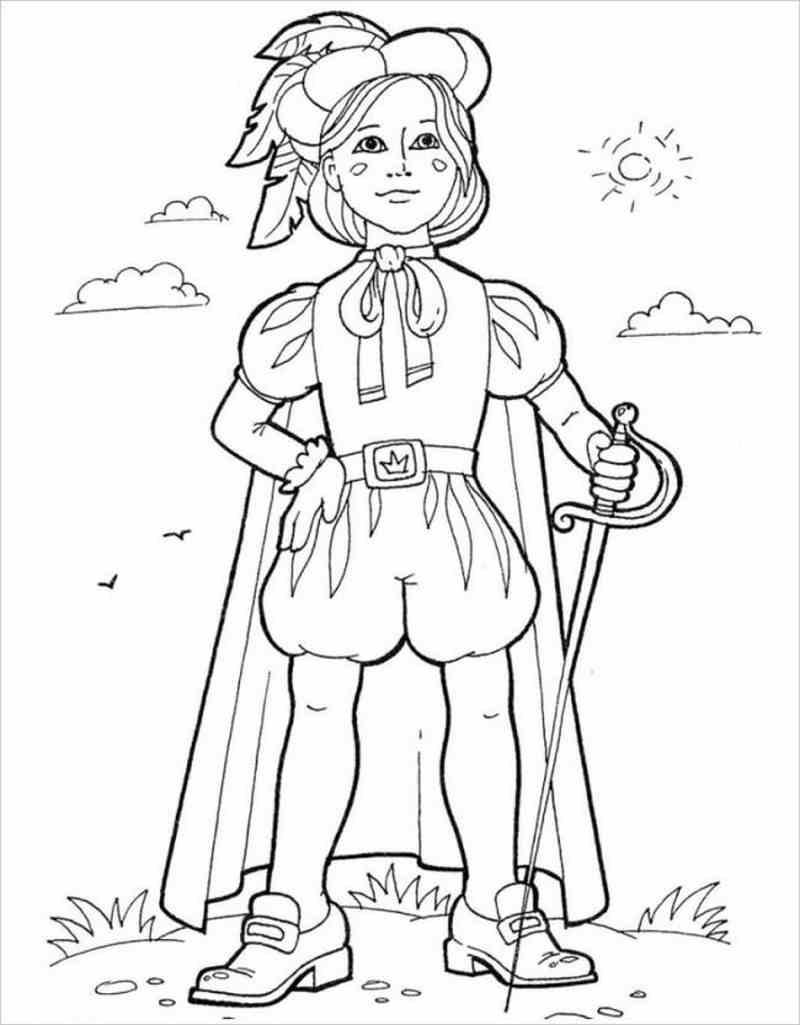 Tải tranh tô màu hoàng tử dành cho bé 4 tuổi 9