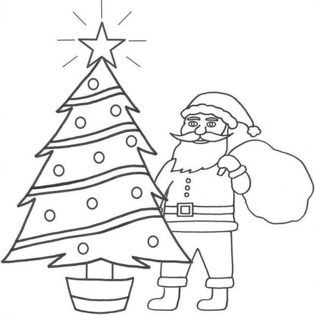 10 Bức tranh tô màu ông già Noel mới nhất cho bé 23