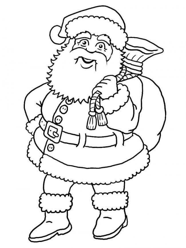 10 Bức tranh tô màu ông già Noel mới nhất cho bé 24