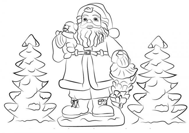 10 Bức tranh tô màu ông già Noel mới nhất cho bé 28