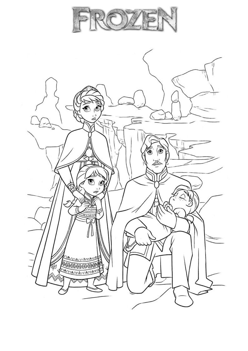 Tải 21 hình ảnh tranh tô màu công chúa Elsa và Anna 43