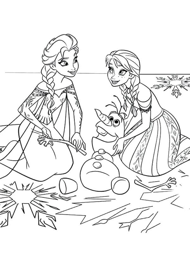 Tải 21 hình ảnh tranh tô màu công chúa Elsa và Anna 52
