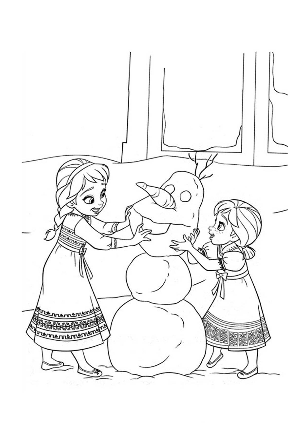 Tải 21 hình ảnh tranh tô màu công chúa Elsa và Anna 53