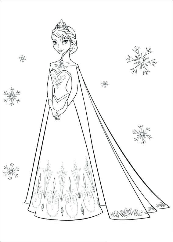 Tải 21 hình ảnh tranh tô màu công chúa Elsa và Anna 54