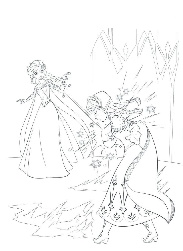 Tải 21 hình ảnh tranh tô màu công chúa Elsa và Anna 58