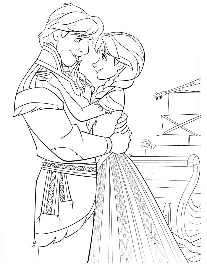 Tải 21 hình ảnh tranh tô màu công chúa Elsa và Anna 61