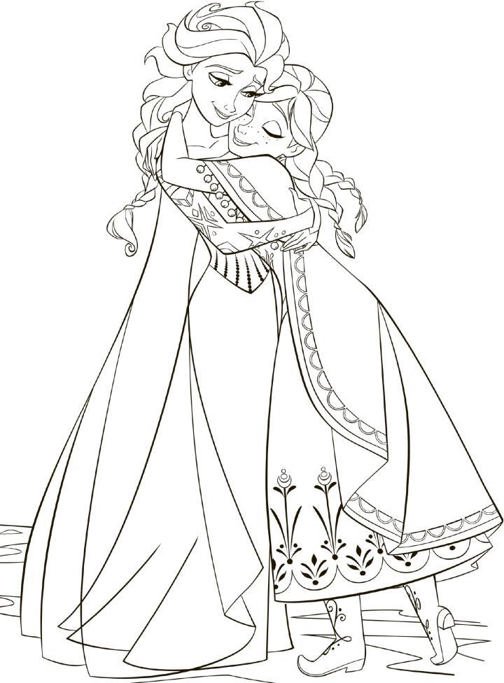 Tải 21 hình ảnh tranh tô màu công chúa Elsa và Anna 44