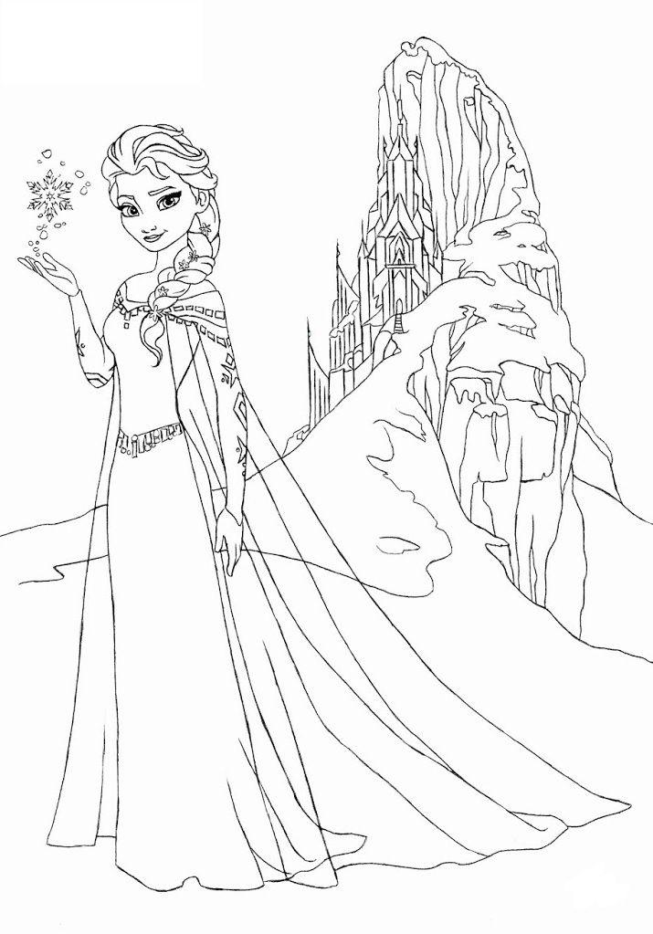 Tải 21 hình ảnh tranh tô màu công chúa Elsa và Anna 47