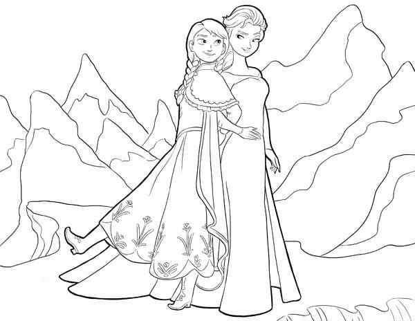 Tải 21 hình ảnh tranh tô màu công chúa Elsa và Anna 51