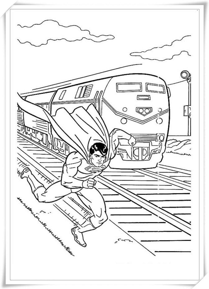 tranh-to-mau-sieu-nhan-superman
