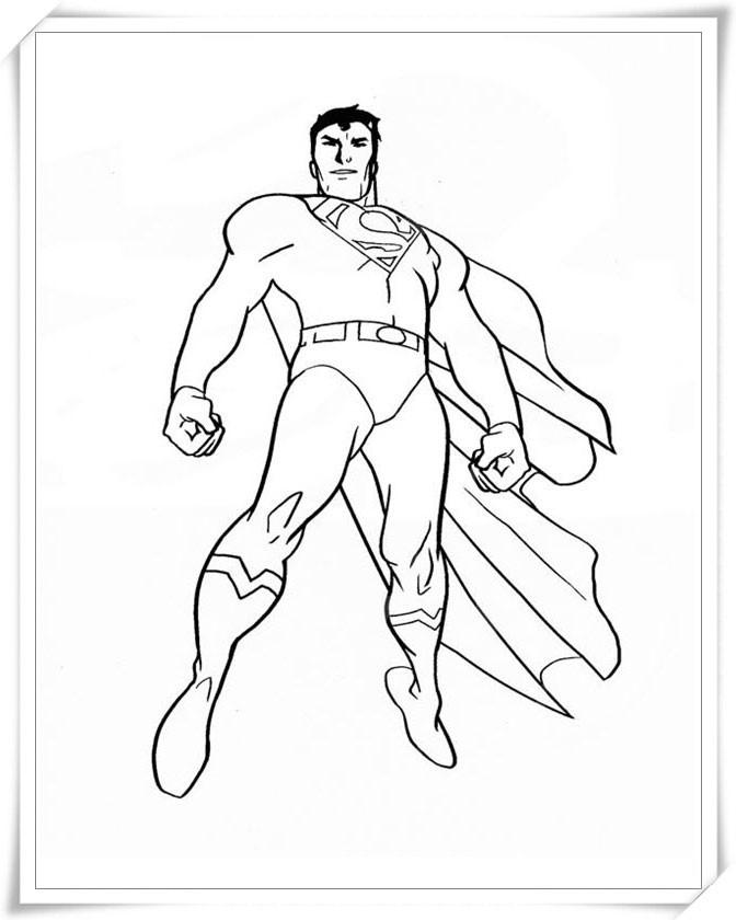 Download tải tranh tô màu siêu nhân superman, người nhện, robot tăng cường cá tính cho bé trai 11
