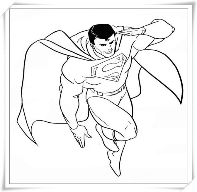 Download tải tranh tô màu siêu nhân superman, người nhện, robot tăng cường cá tính cho bé trai 12