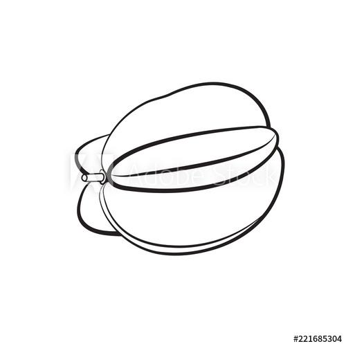 Donwload tranh tô màu quả khế 3