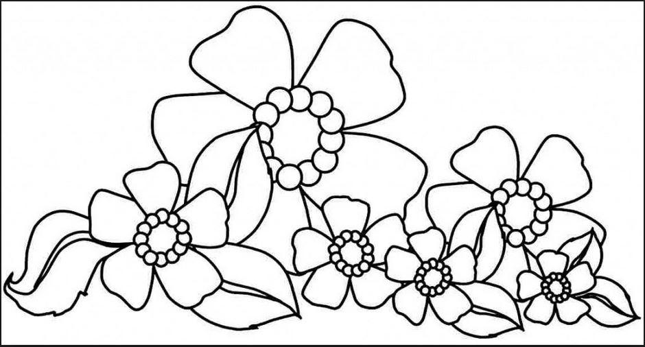 Bộ tranh tô màu hình các loài hoa đầy màu sắc 13
