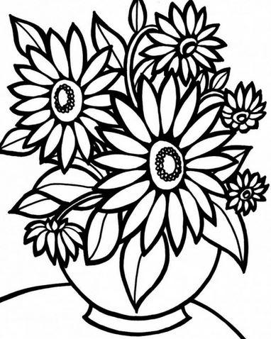 Bộ tranh tô màu hình các loài hoa đầy màu sắc 17
