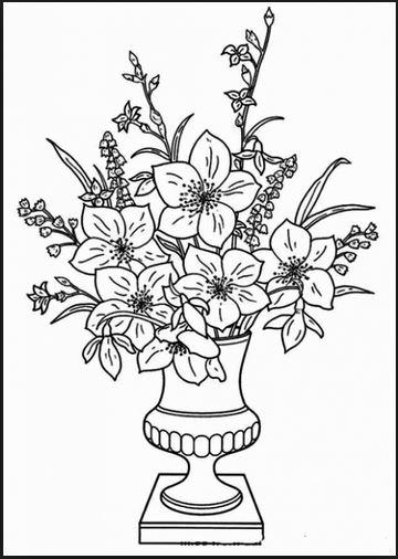 Bộ tranh tô màu hình các loài hoa đầy màu sắc 21