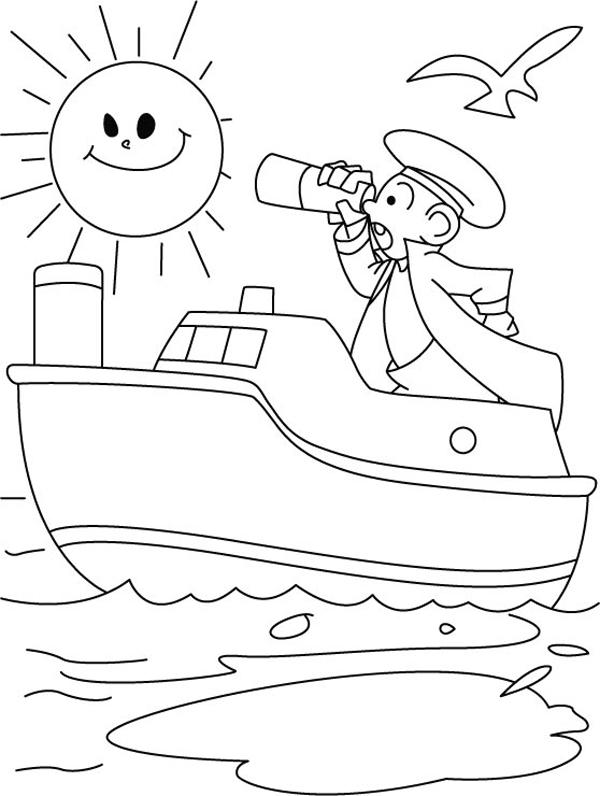 Tranh tô màu tàu thủy | Chủ đề Tranh tô màu phương tiện giao thông 2