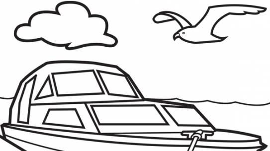 Tranh tô màu tàu thủy | Chủ đề Tranh tô màu phương tiện giao thông