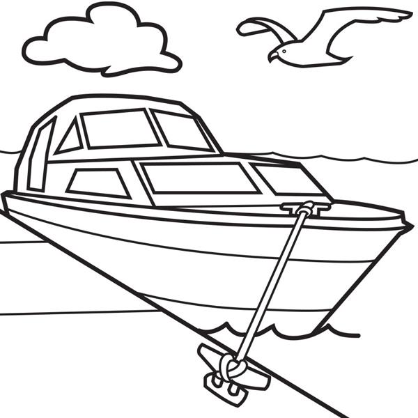 Tranh tô màu tàu thủy | Chủ đề Tranh tô màu phương tiện giao thông 1
