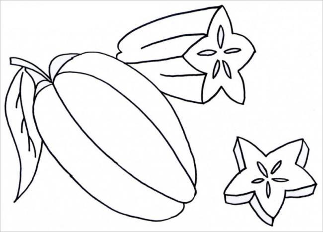 Donwload tranh tô màu quả khế 7