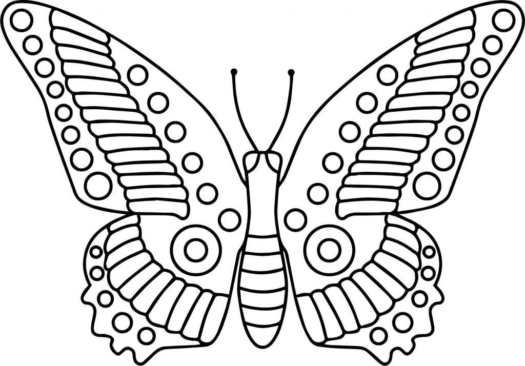 Tranh tô màu con bướm đẹp cho bé gái 59