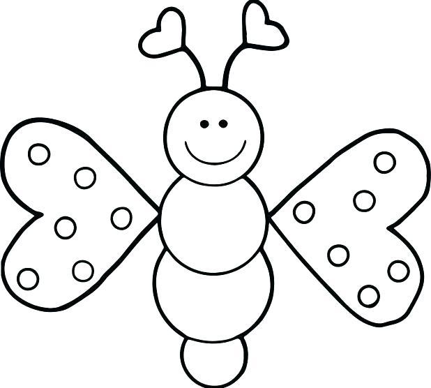 Tranh tô màu con bướm đẹp cho bé gái 60