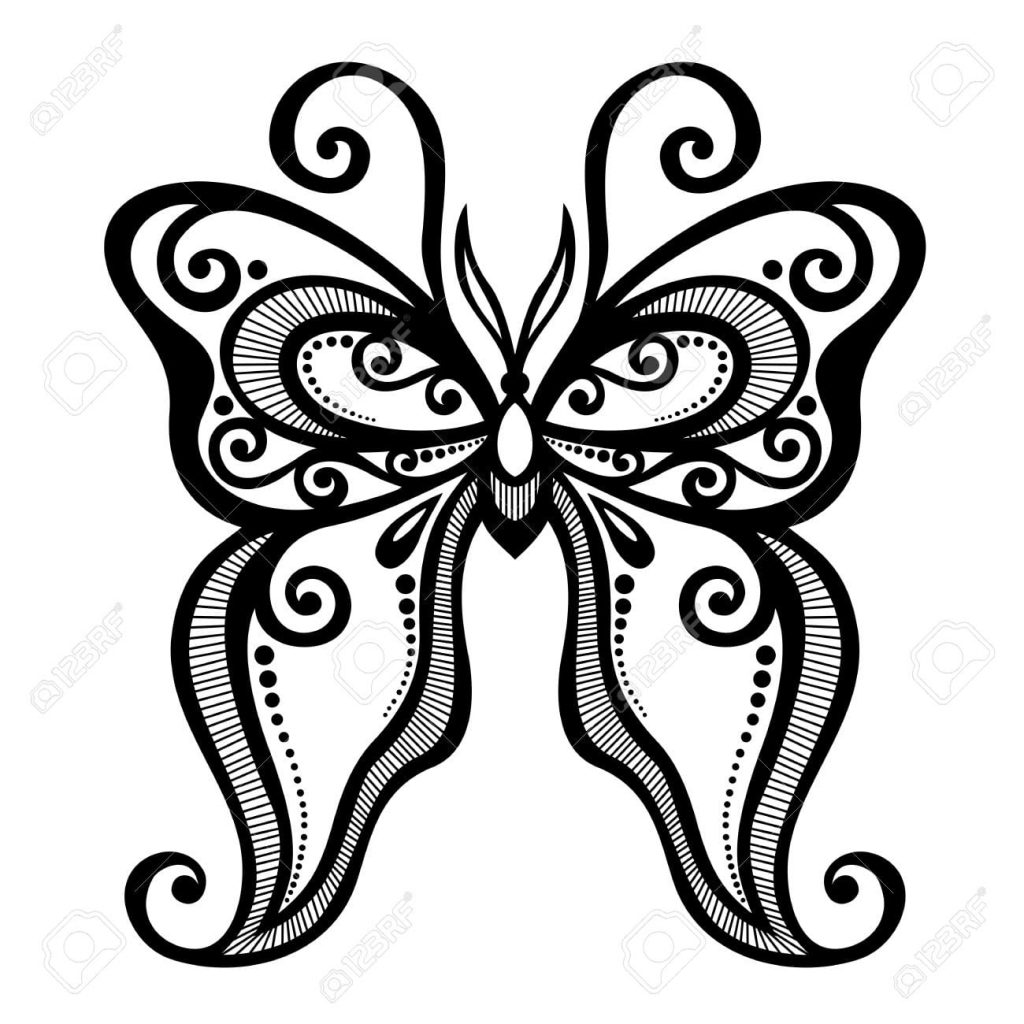 Tranh tô màu con bướm đẹp cho bé gái 69