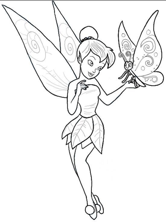 Tranh tô màu con bướm đẹp cho bé gái 72
