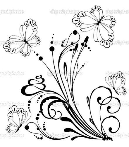 Tranh tô màu con bướm đẹp cho bé gái 53