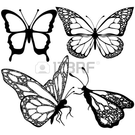 Tranh tô màu con bướm đẹp cho bé gái 55