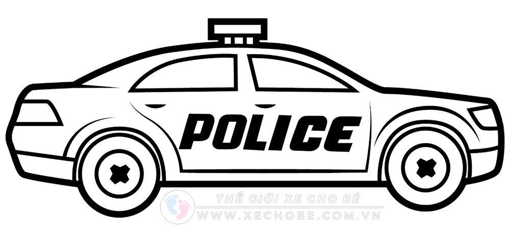 Bộ tranh tô màu xe ô tô cảnh sát đẹp 11